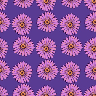 Konturierte doodle sonnenblumenelemente nahtlose muster.