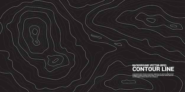 Konturlinie hintergrundgrafik. konzept der einfachen geografie und des geländes