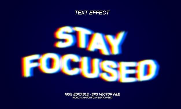 Konzentrierter texteffekt bleiben