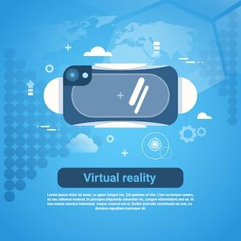 Konzept-3d der gläser der virtuellen realität web-fahne