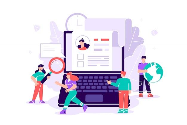 Konzept bloggen, bildung, kreatives schreiben