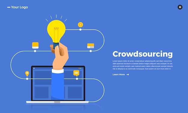 Konzept crowdsourcing. veranschaulichen.