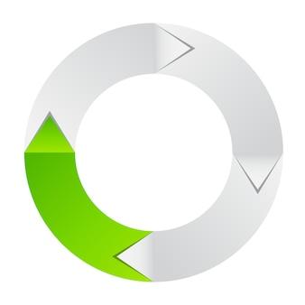 Konzept der bunten kreisförmigen fahne mit pfeilen für verschiedene bu