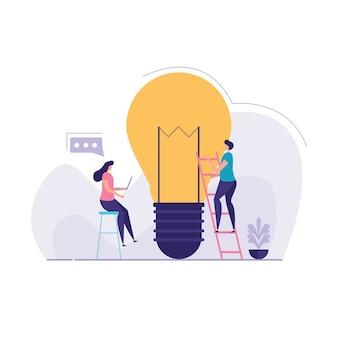 Konzept der coworking illustration