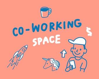 Konzept der Coworking-Raumillustration