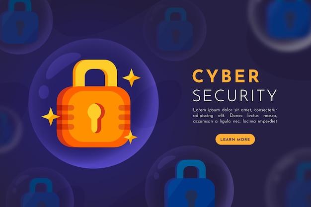 Konzept der cybersicherheit