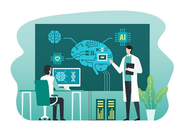 Konzept der digitalen gehirntechnologie