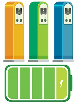 Konzept der elektroauto-ladestationen