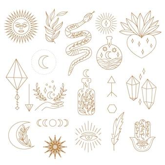 Konzept der esoterischen elemente