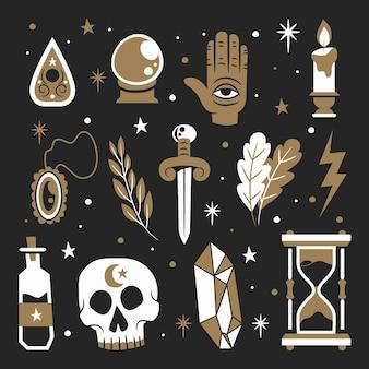 Konzept der esoterischen mystischen elemente