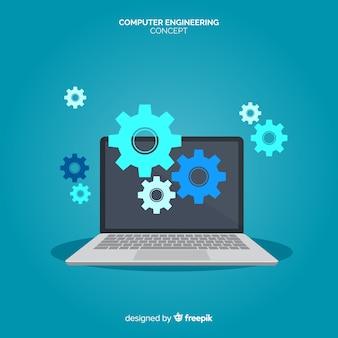 Konzept der flachen computertechnik