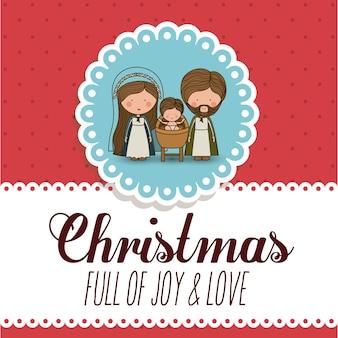 Konzept der frohen weihnachten mit dekorationsikonen entwerfen