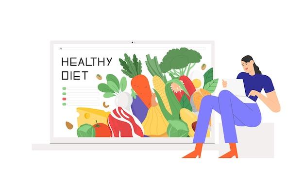 Konzept der gesunden ernährung