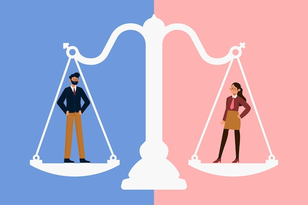 Konzept der gleichstellung der geschlechter