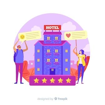 Konzept der hotelbewertung