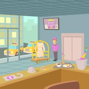 Konzept der hotelrezeption