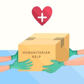 Konzept der humanitären hilfe