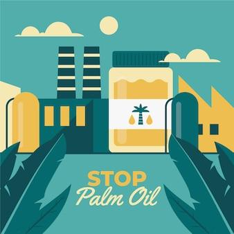 Konzept der industrie zur herstellung von palmöl
