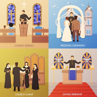 Konzept der kirche 2x2