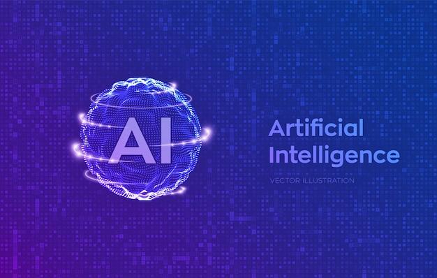 Konzept der künstlichen intelligenz und des maschinellen lernens.