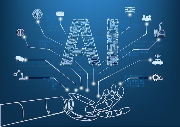 Konzept der künstlichen intelligenz