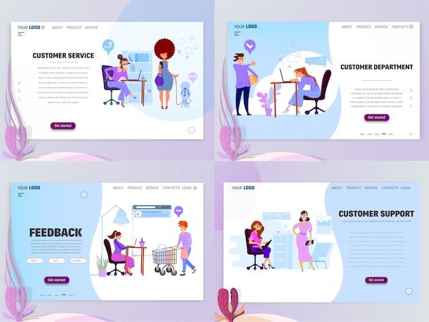 Konzept der kundendienstabteilung für website