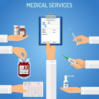 Konzept der medizinischen dienstleistungen