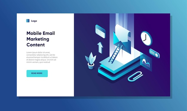 Konzept der mobilen e-mail-marketing-benachrichtigung