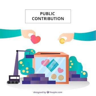 Konzept der öffentlichen beiträge
