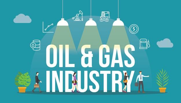 Konzept der öl- und gasindustrie