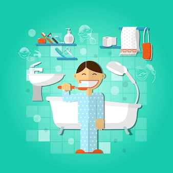 Konzept der persönlichen hygiene