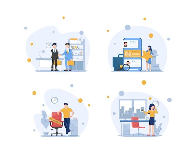 Konzept der personalabteilung, einstellung und rekrutierung von personal, suche nach qualifiziertem personal