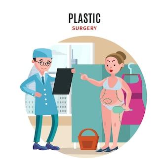 Konzept der plastischen chirurgie