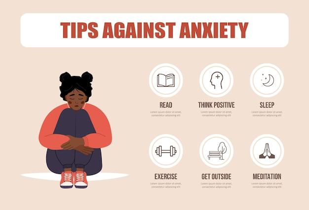 Konzept der psychischen gesundheit. stimmungsschwankung. tipps gegen angst.
