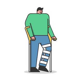 Konzept der rehabilitation soziale anpassung von menschen mit behinderungen