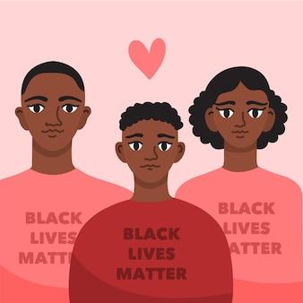 Konzept der schwarzen lebensmaterie