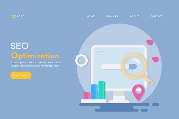 Konzept der seo-optimierung