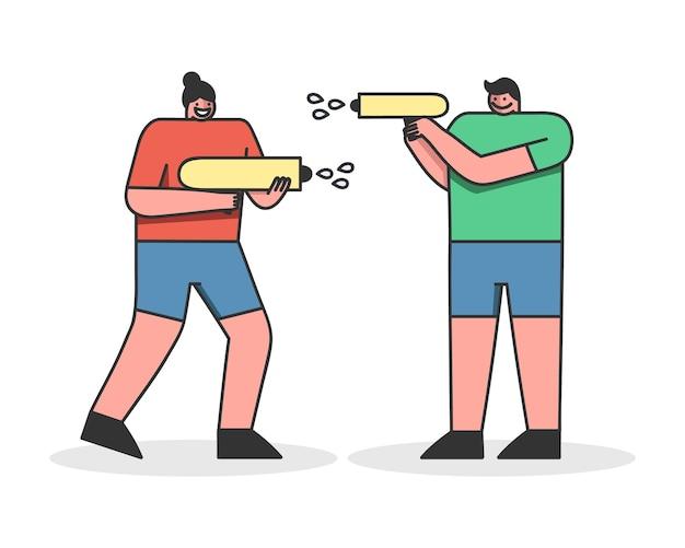 Konzept der sommer-aktivitätsspiele