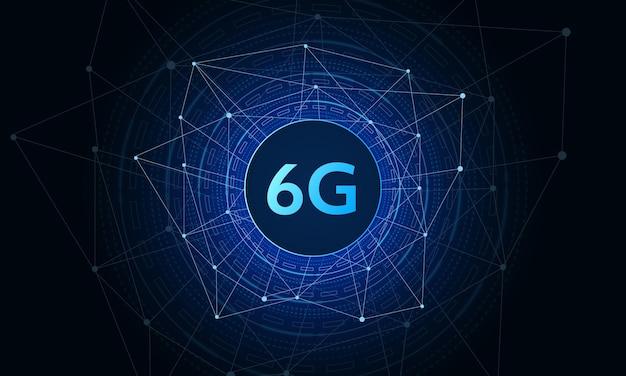 Konzept der technologie 6g mobilfunknetz hintergrund
