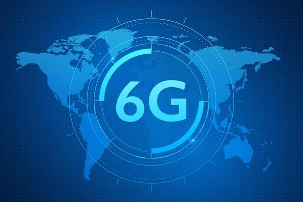 Konzept der technologie 6g-mobilfunknetz telekommunikation der neuen generation highspeed-mobilfunk Premium Vektoren