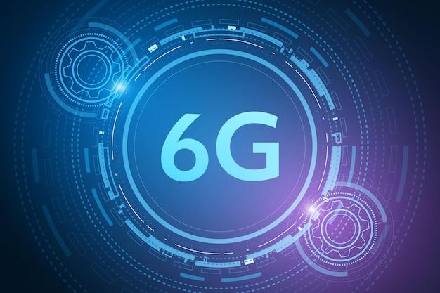 Konzept der technologie 6g-mobilfunknetz telekommunikation der neuen generation highspeed