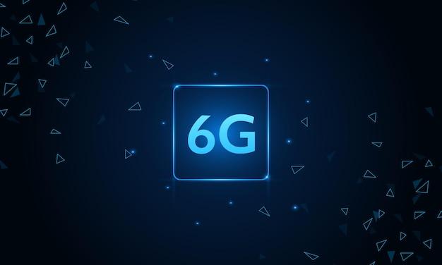 Konzept der technologie 6g-mobilfunknetz telekommunikation der neuen generation mobiles highspeed-internet