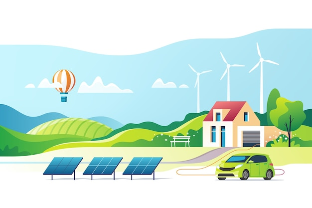 Konzept der umweltfreundlichen energie