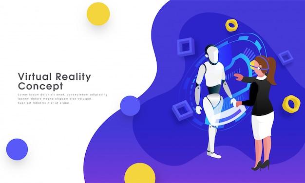 Konzept der virtuellen realität.