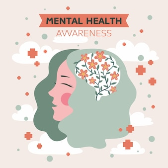 Konzept des bewusstseins für psychische gesundheit