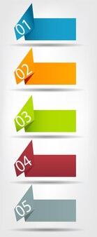 Konzept des bunten origami für verschiedenes geschäftsdesign. vektor