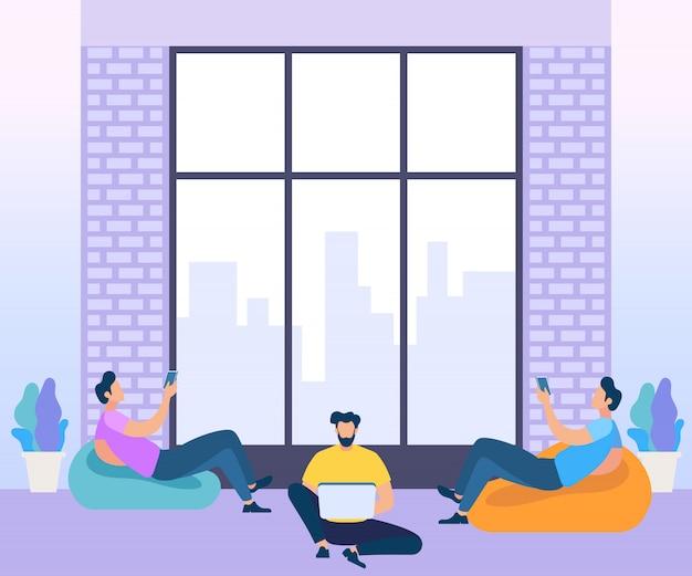 Konzept des coworking centers