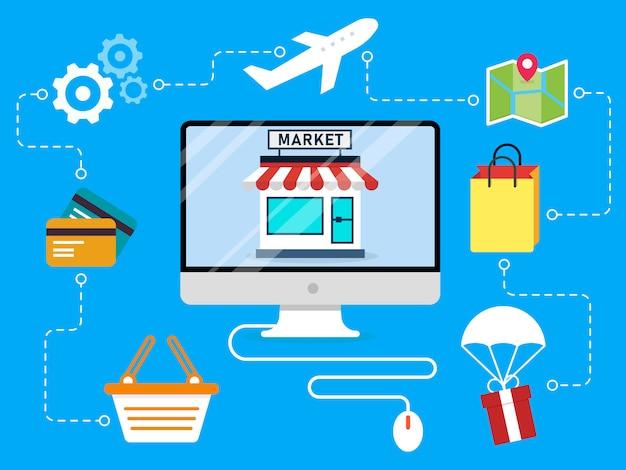 Konzept des e-commerce-designs