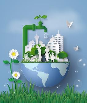 Konzept des eco und wolrd wassertages