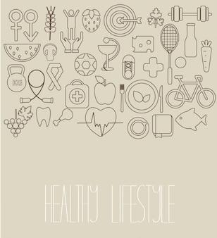 Konzept des gesunden lebensstils